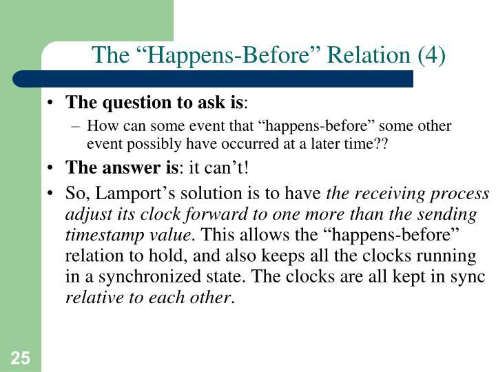 "The ""Happens-Before"" Relation (4)"