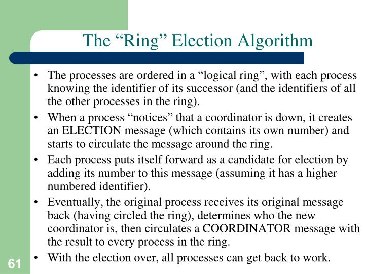 "The ""Ring"" Election Algorithm"
