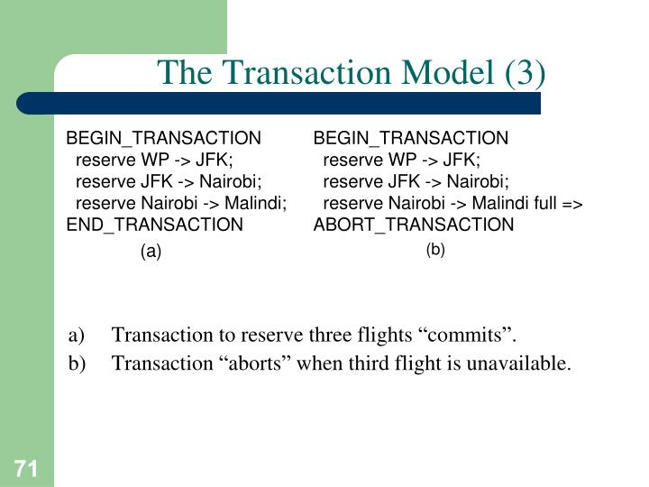 The Transaction Model (3)