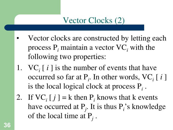 Vector Clocks (2)