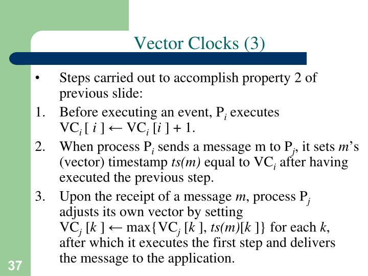 Vector Clocks (3)