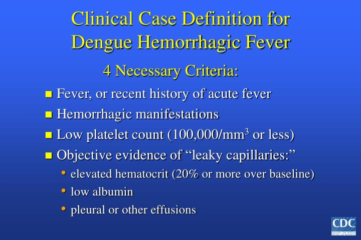 Clinical Case Definition for