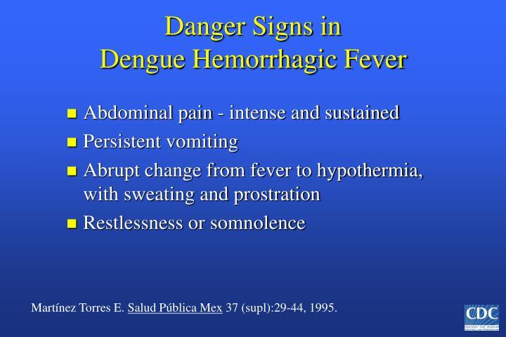 Danger Signs in