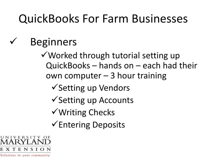 QuickBooks For Farm Businesses