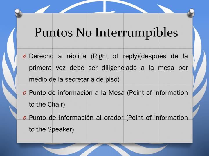 Puntos No Interrumpibles