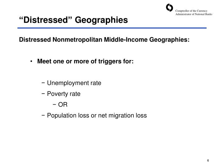 """""""Distressed"""" Geographies"""