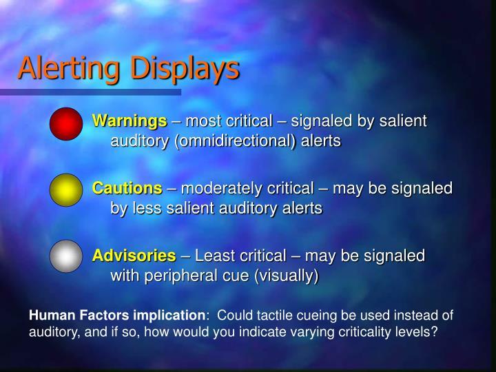 Alerting Displays