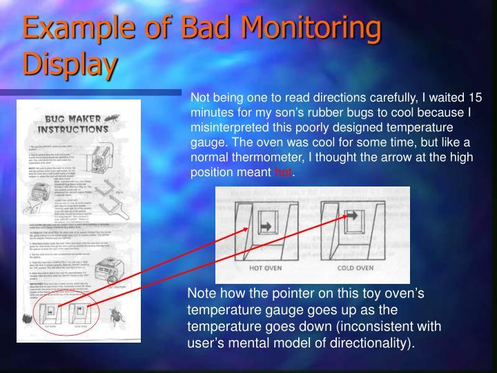 Example of Bad Monitoring Display