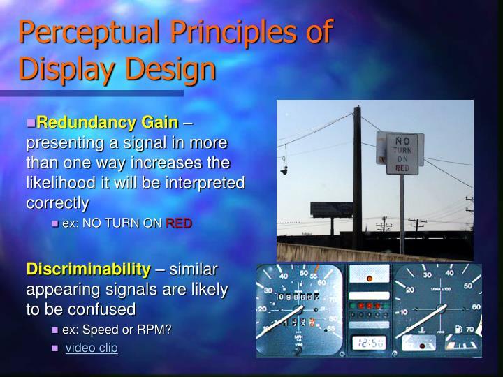 Perceptual Principles of Display Design