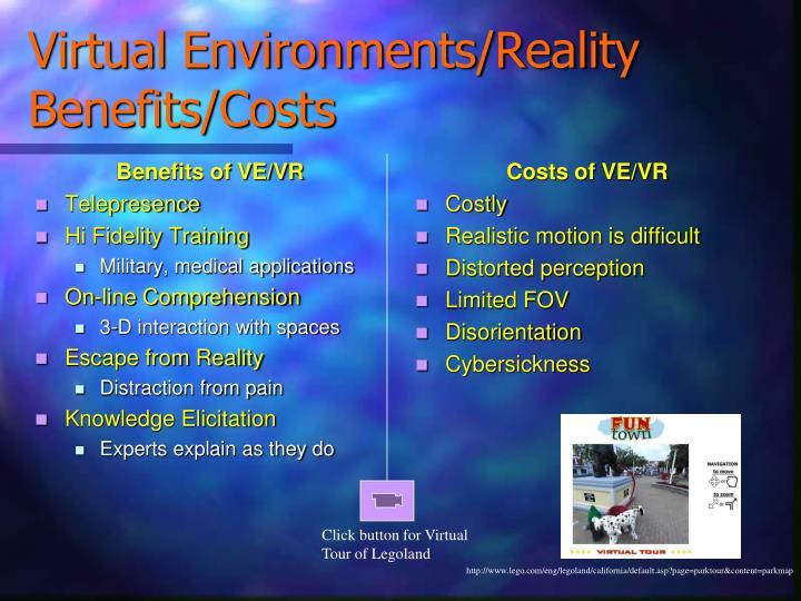 Benefits of VE/VR