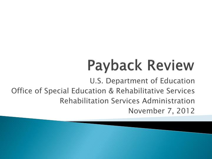 payback review n.