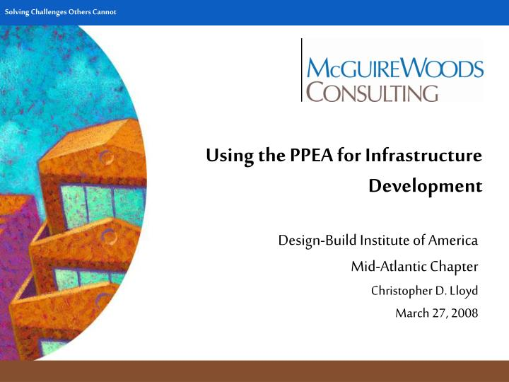 using the ppea for infrastructure development n.
