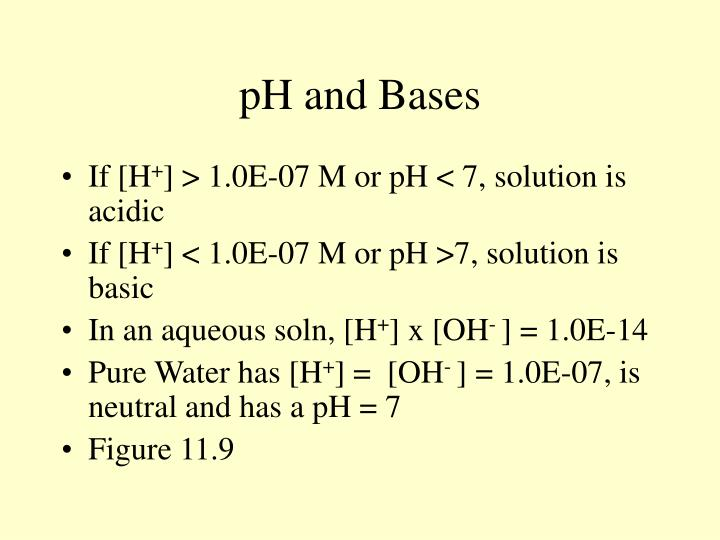 pH and Bases