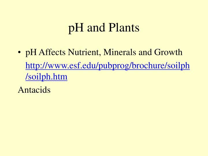 pH and Plants