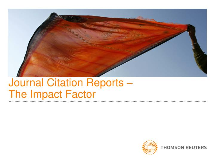 journal citation reports the impact factor n.