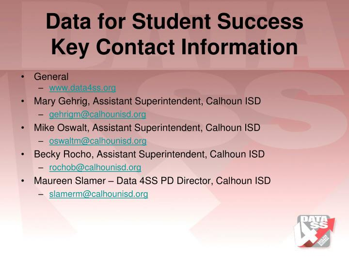 Data for Student Success