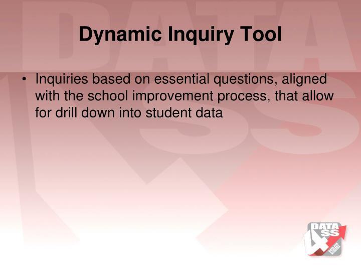 Dynamic Inquiry Tool