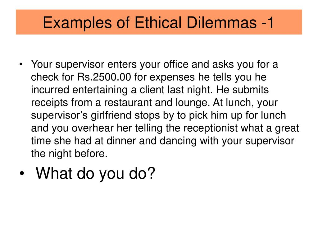 PPT - Ethical Dilemmas in Workplace PowerPoint Presentation