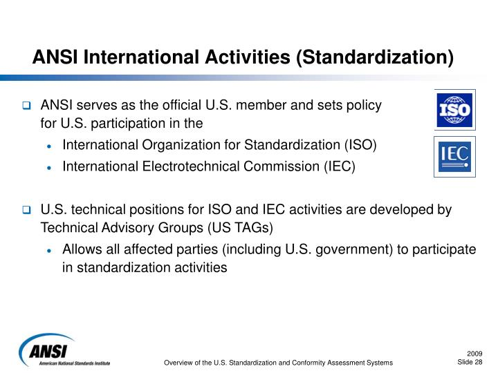 ANSI International Activities (Standardization)