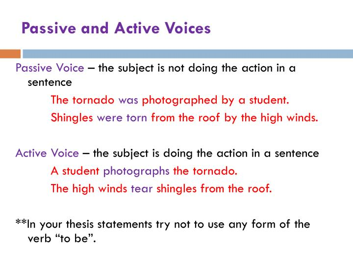 Passive and Active Voices