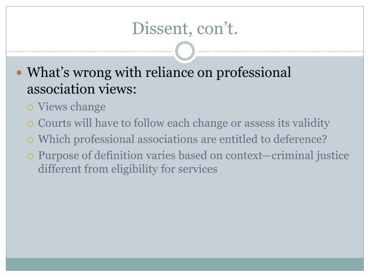 Dissent,