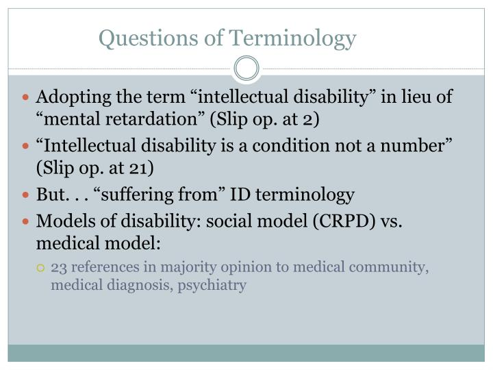 Questions of Terminology