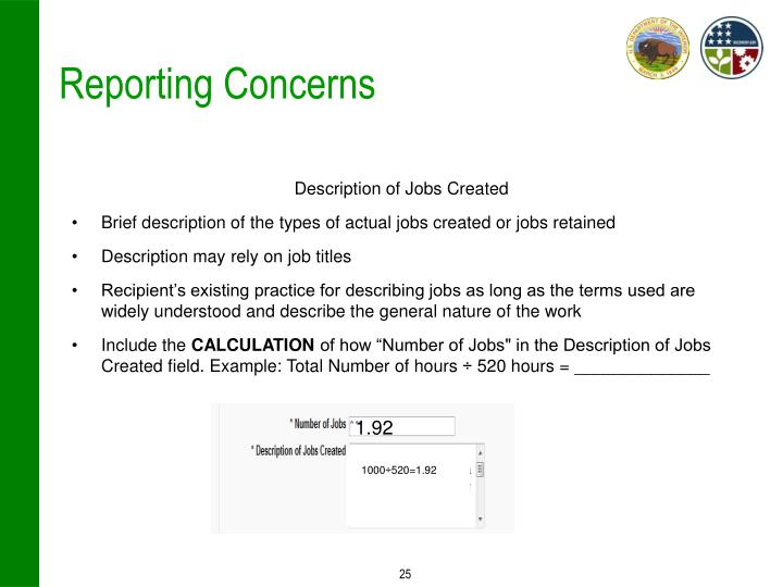 Reporting Concerns