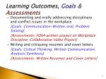 learning outcomes goals assessments2