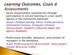 learning outcomes goals assessments6