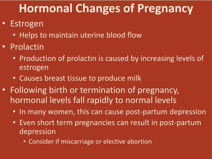Hormonal Changes of Pregnancy