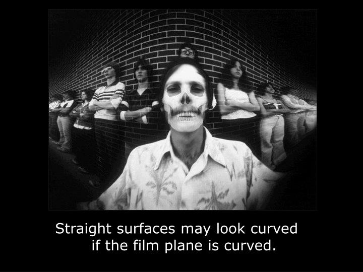 Straight surfaces may look curved