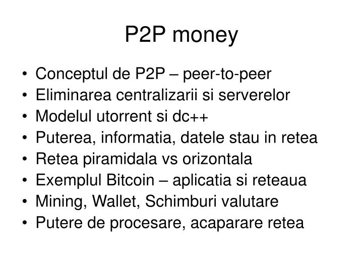 P2P money