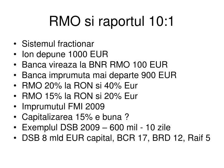RMO si raportul 10:1
