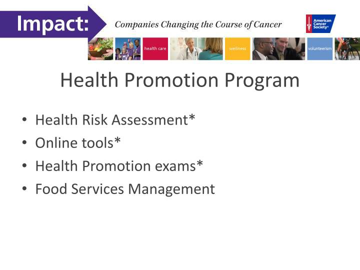 Health Promotion Program