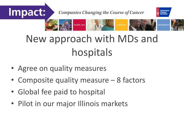 New approach with MDs and hospitals