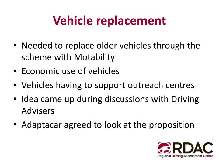 Vehicle replacement