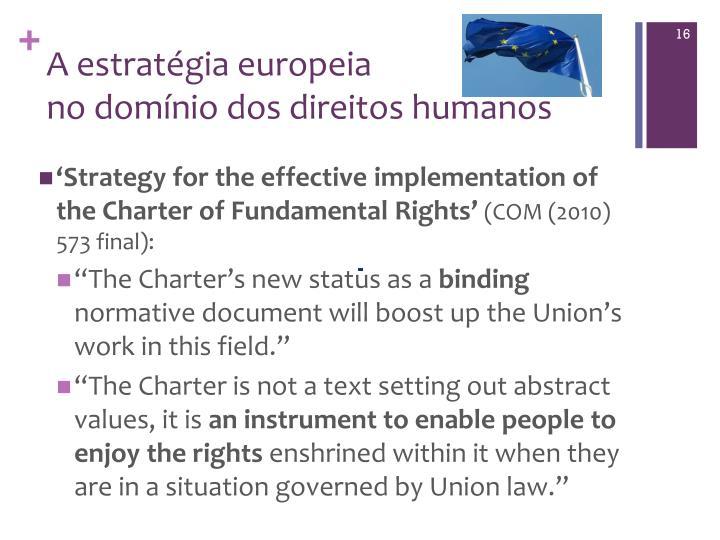 A estratégia europeia