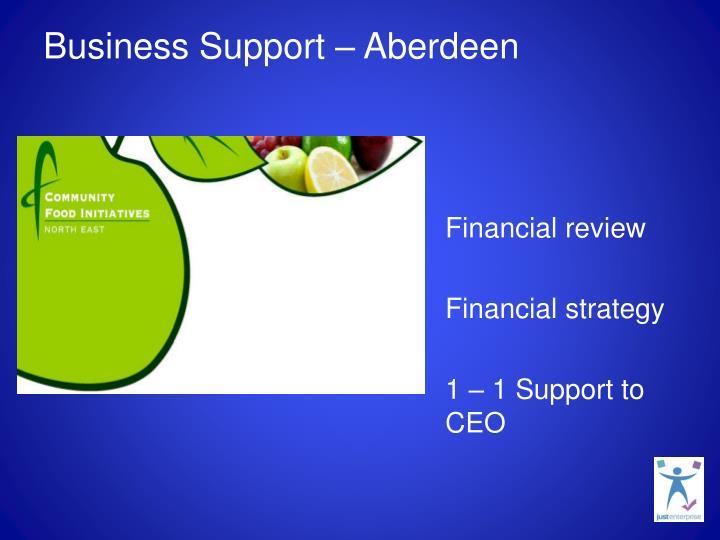 Business Support – Aberdeen