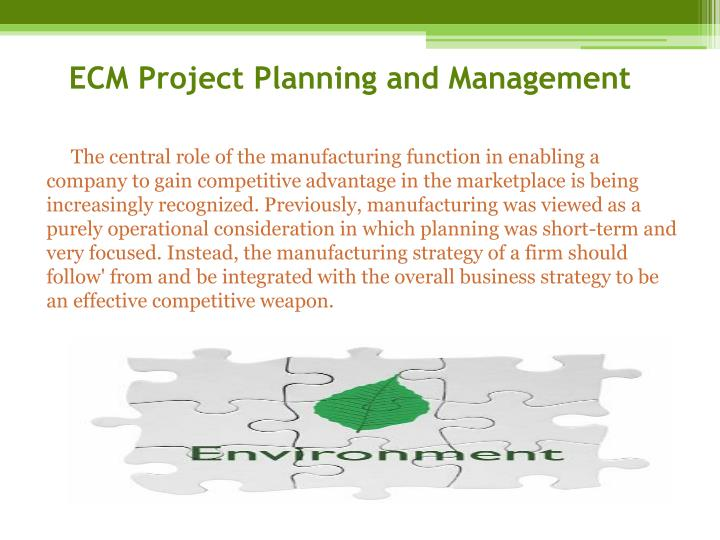 ECM Project Planning and Management