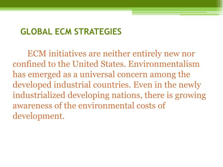 GLOBAL ECM STRATEGIES