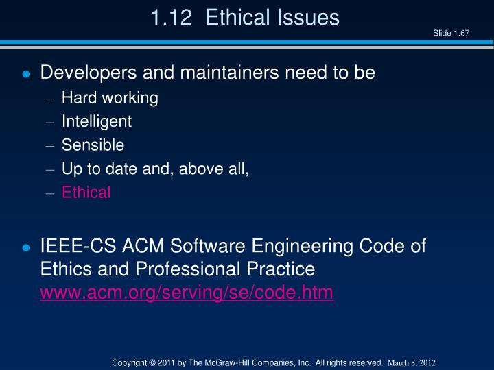 1.12  Ethical Issues