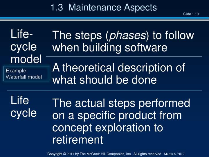 1.3  Maintenance Aspects
