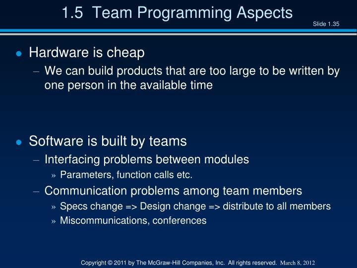 1.5  Team Programming Aspects