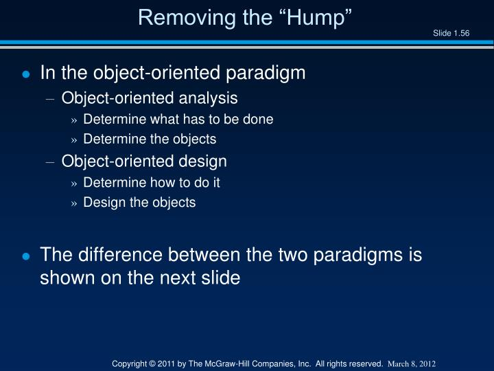 """Removing the """"Hump"""""""