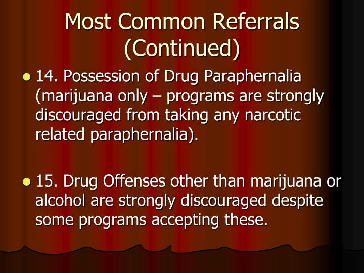 Most Common Referrals