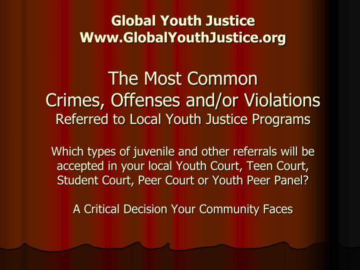 Global Youth Justice
