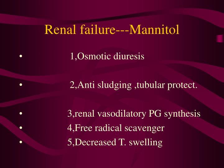 Renal failure---Mannitol