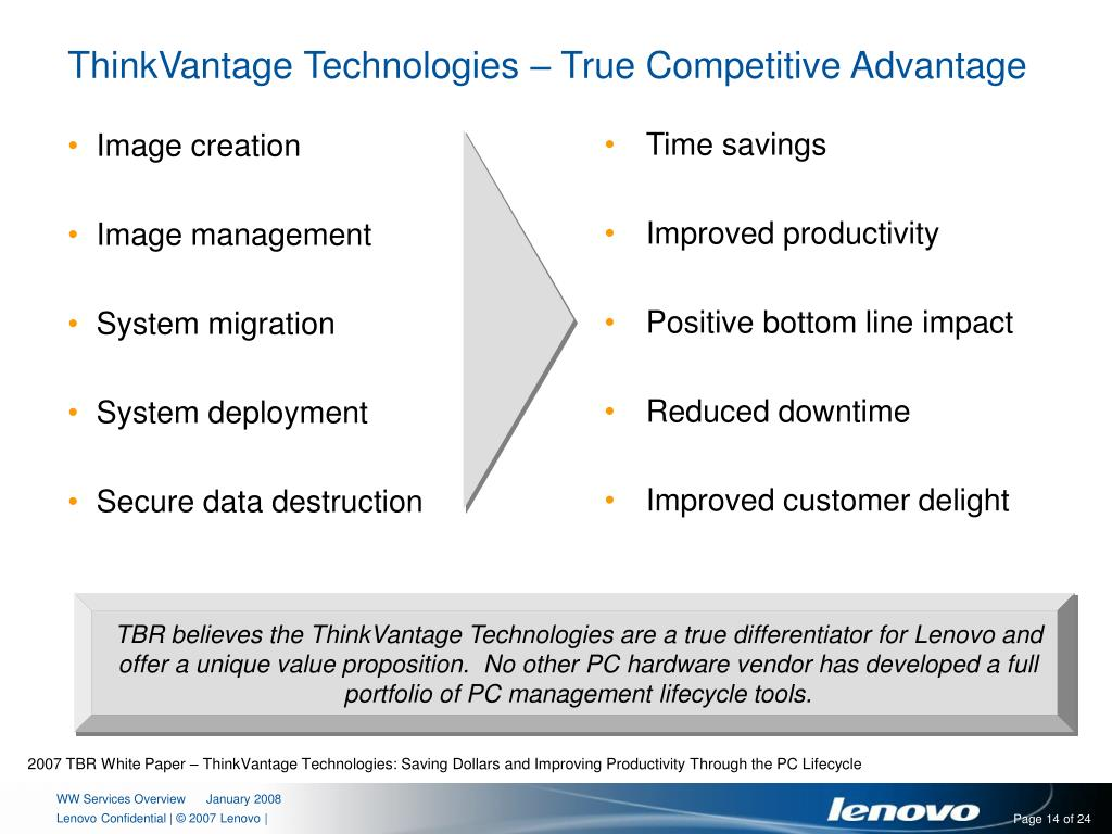 PPT - Lenovo Services A Heritage of Excellence Backing the