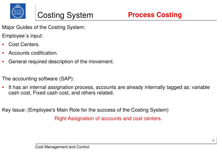 Costing System