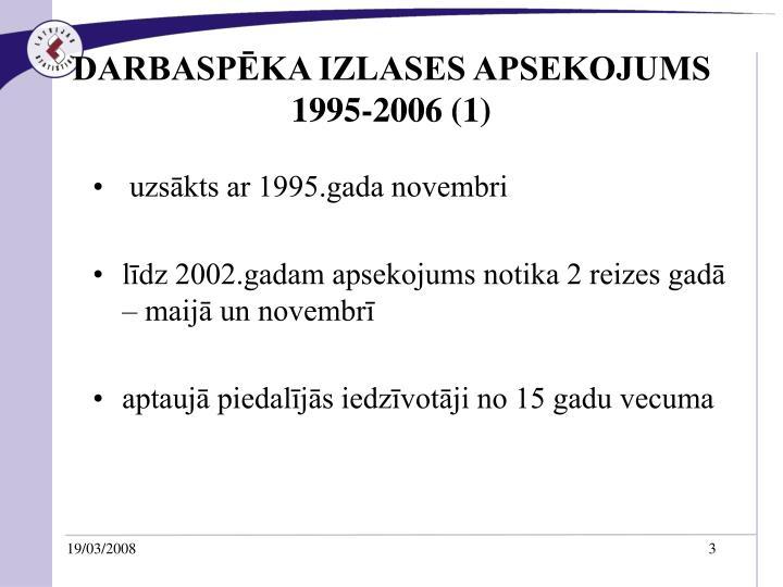 Darbasp ka izlases apsekojums 1995 2006 1